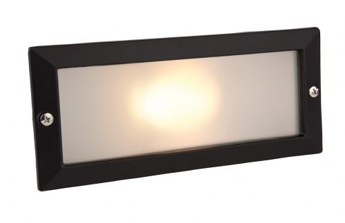 Firstlight 1120BK Black with Opal Glass Brick Light - without Louvre
